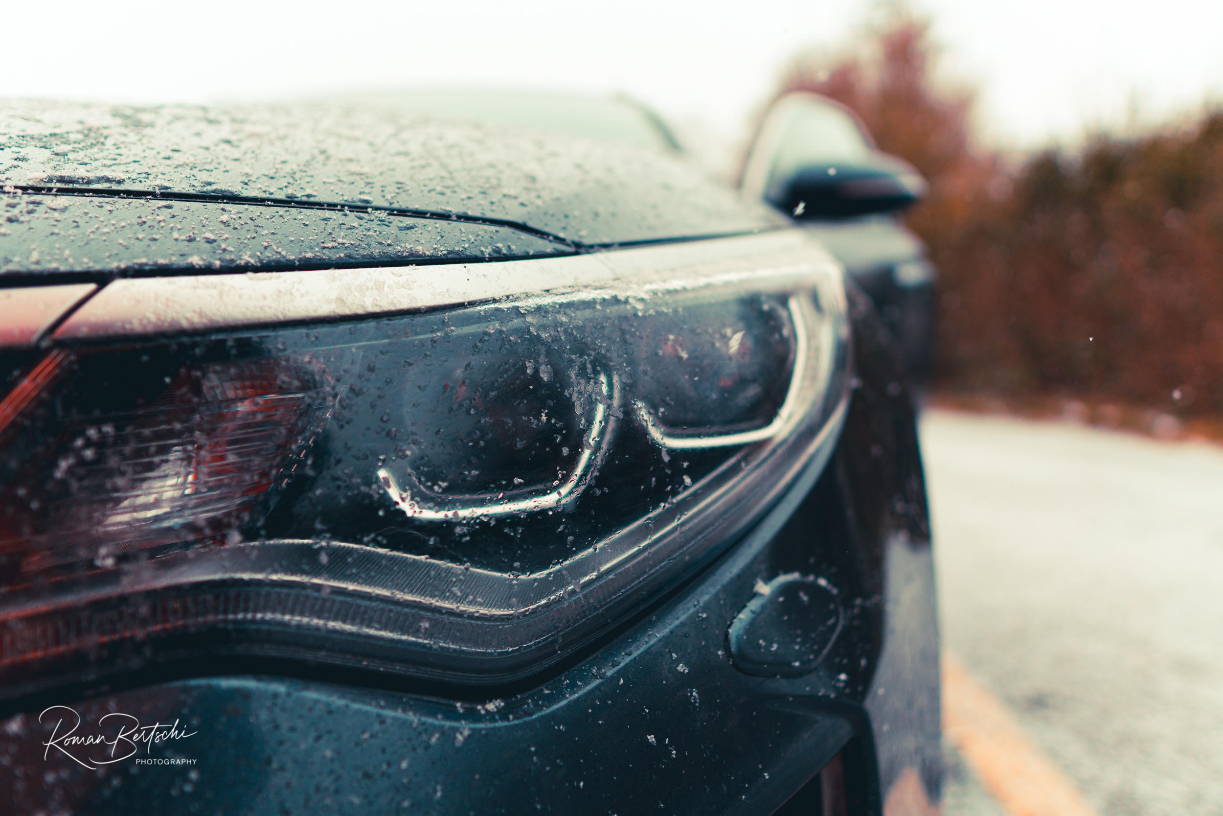 My Kia in the Snow